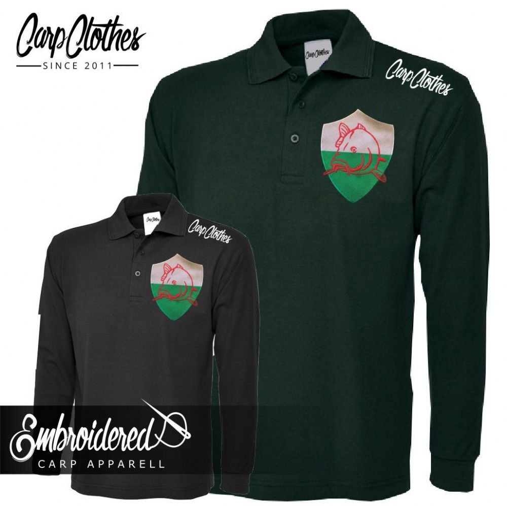 022 EMBROIDERED CARP LS POLO